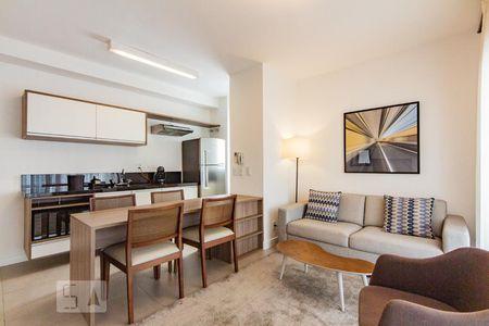 7e4be1bda Sala de estar e jantar de Apartamento com 1 quarto